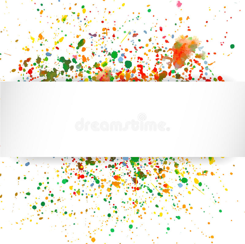Abstract artistic Background with watercolor splash stock illustration