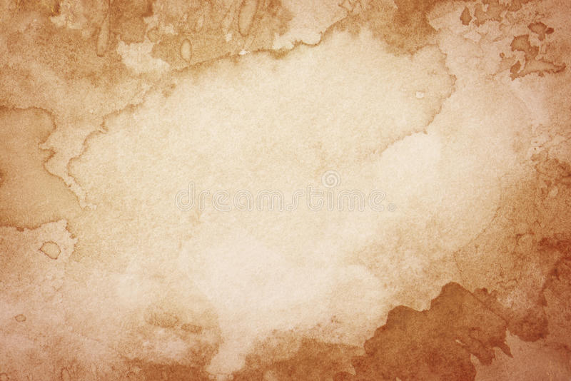 Abstract artistic brown watercolor background royalty free illustration