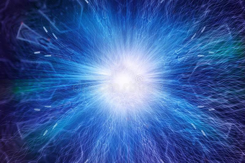 Abstract Artistic Digital Energy Explodes Smoothly Into An Artwork Background stock photo