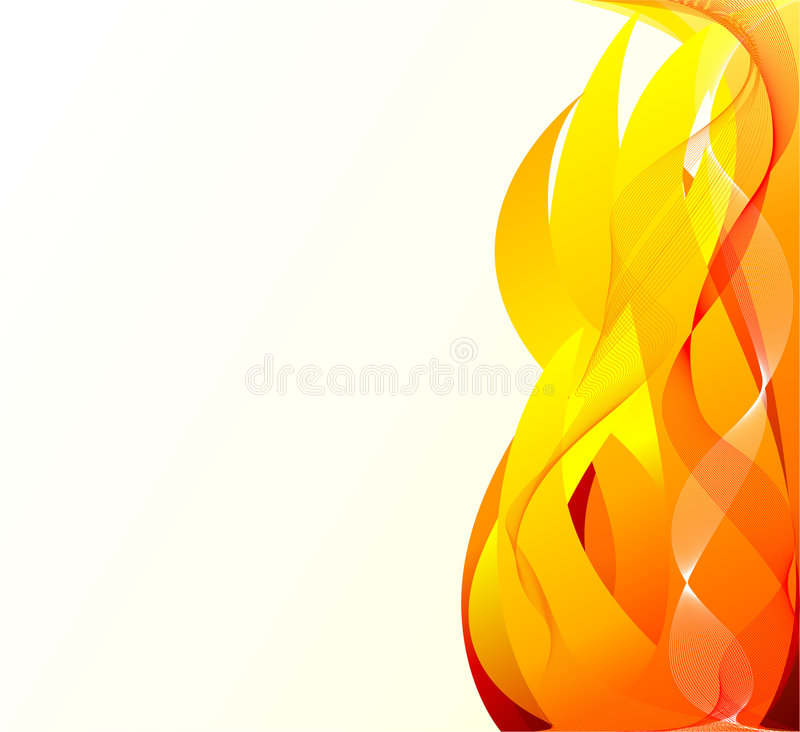 Abstract artistic fire background vector illustration