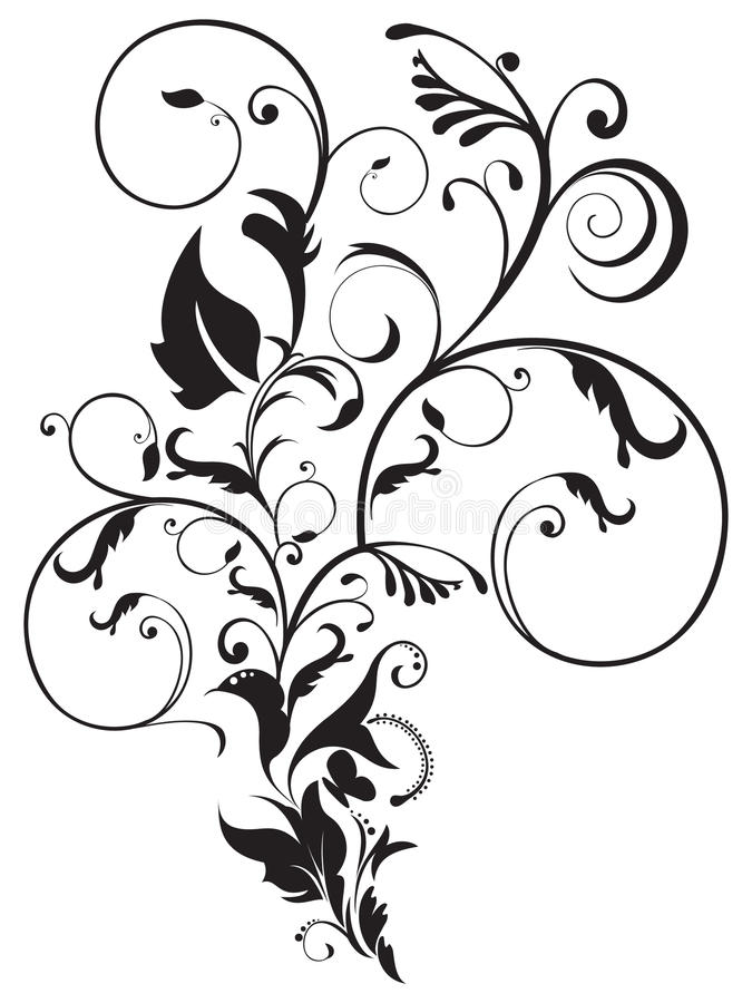 Abstract artistic floral royalty free illustration