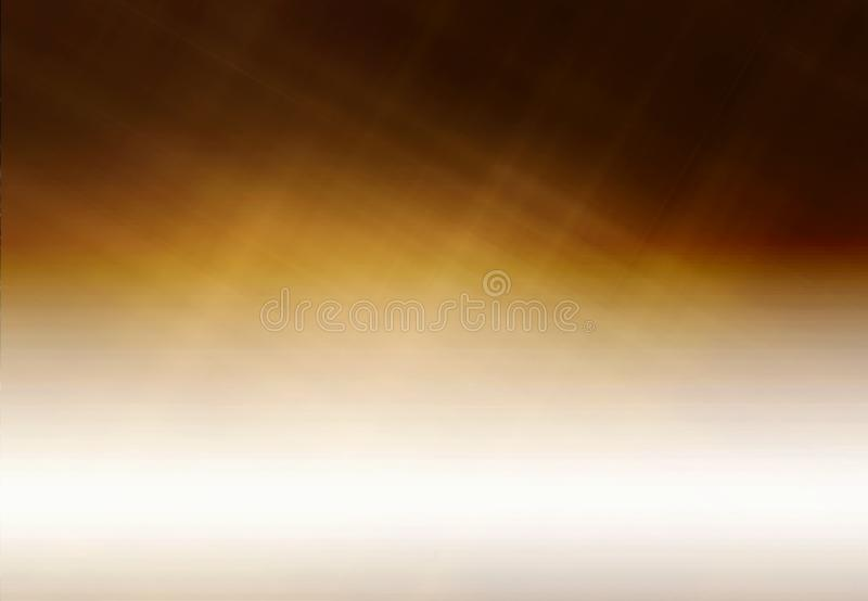 Abstract Artistic Gradient Gold Brown Pattern on a Half White Texture. Abstract digital gold brown patterns on a gradient half white texture royalty free illustration
