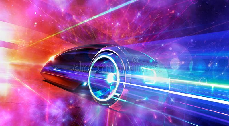 Abstract Artistic Modern Race Car Into an Artistic Background vector illustration