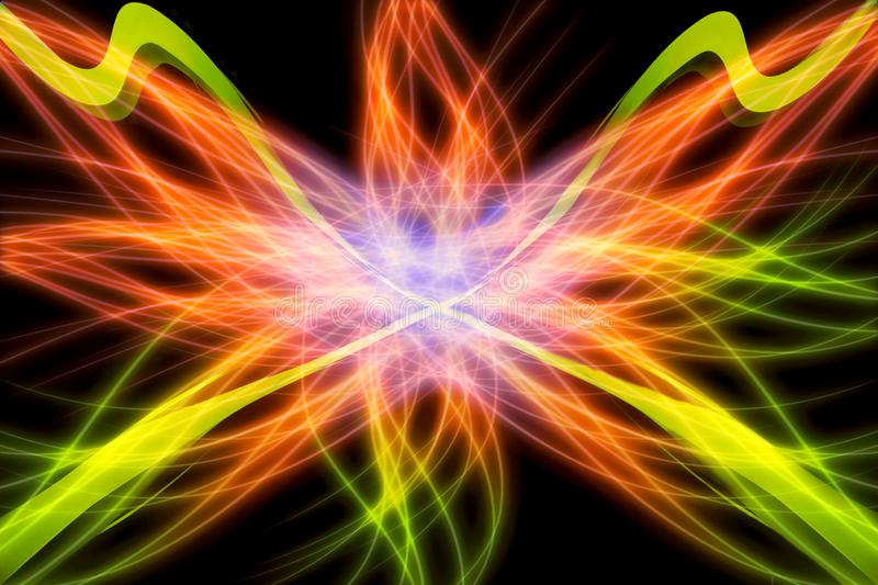 Abstract Artistic Multicolored Digitally Electric Energy Field Artwork Background royalty free illustration