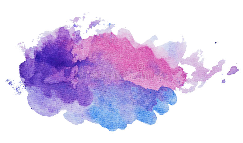 Abstract artistic paint splash in the shape of cloud vector illustration