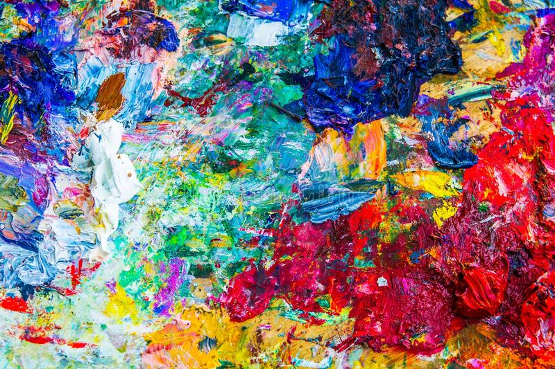 Abstract artistic palette stock photo