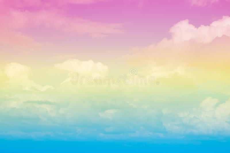 Abstract artistic soft pastel colorful cloud sky for background royalty free stock image