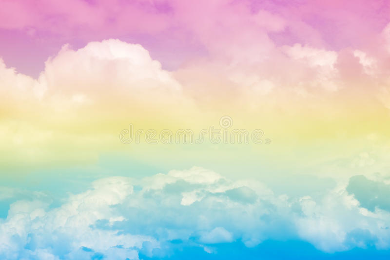 Abstract artistic soft pastel colorful cloud sky for background. The image of abstract artistic soft pastel colorful cloud sky for background and backdrop use stock images