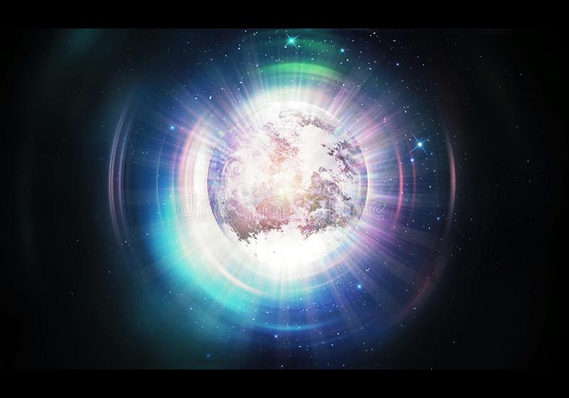 Abstract Artistic Planet Earth In Other Higher Dimension Artwork royalty free illustration