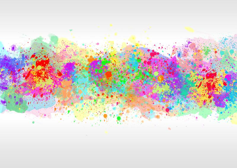 Abstract Watercolor Spatters in Gray Background vector illustration
