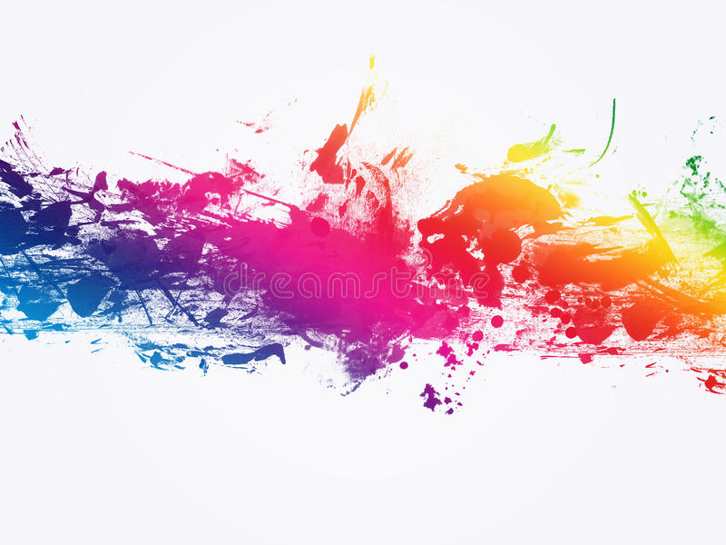 Color Painting Watercolor Splash Background Color Clipart: Abstract Artistic Watercolor Splash Background Stock