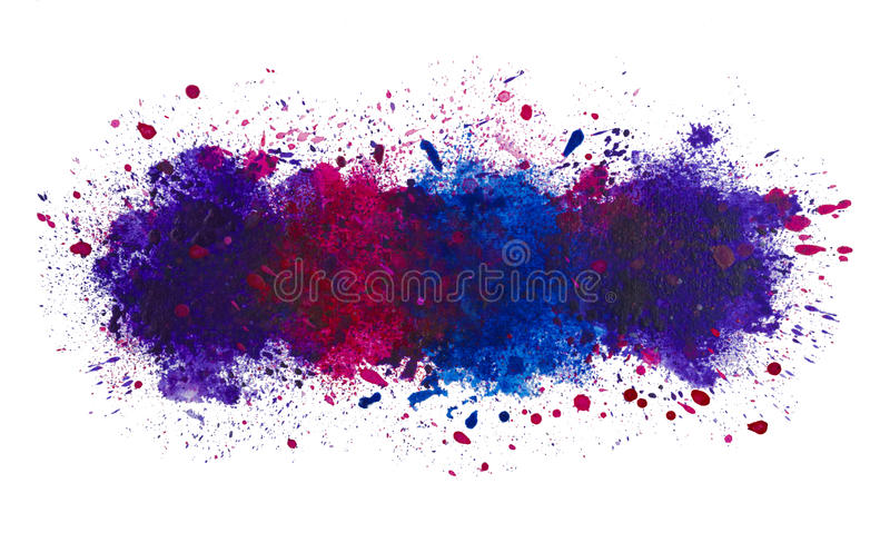 Abstract artistic watercolor splash of paint background, the deep ocean stock illustration