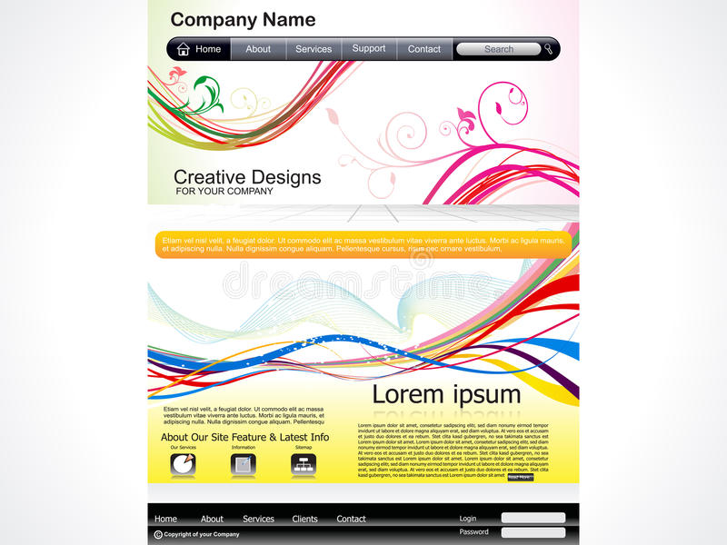 Download Abstract Artistic Web Template Royalty Free Stock Image - Image: 26806356