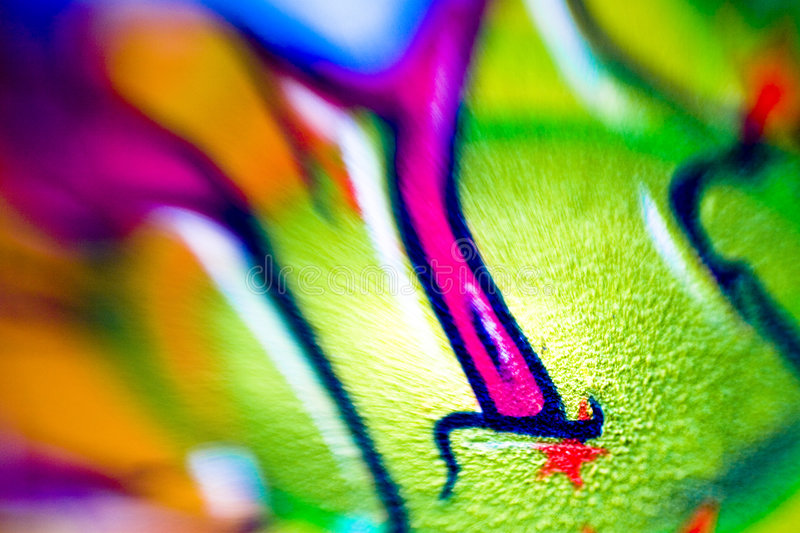 Abstract Artwork On Wall Royalty Free Stock Images