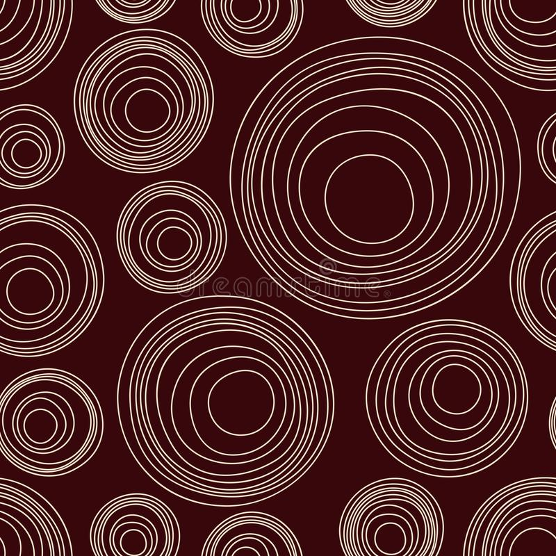 Abstract asymmetrical circles seamless pattern. Australian aboriginal ornament. royalty free illustration
