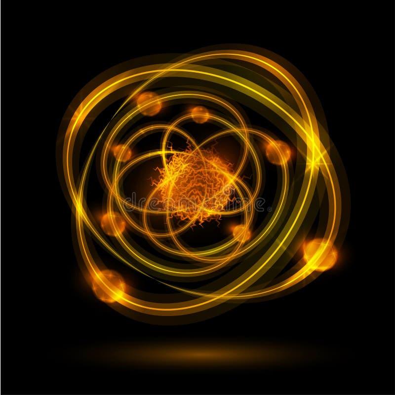 Abstract atoom royalty-vrije illustratie
