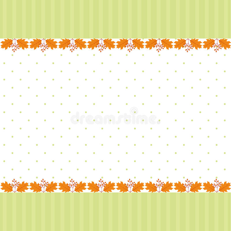 Abstract autumn leaf greeting card royalty free stock images