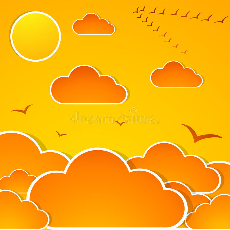 Download Abstract autumn sky stock vector. Image of cover, october - 25365414