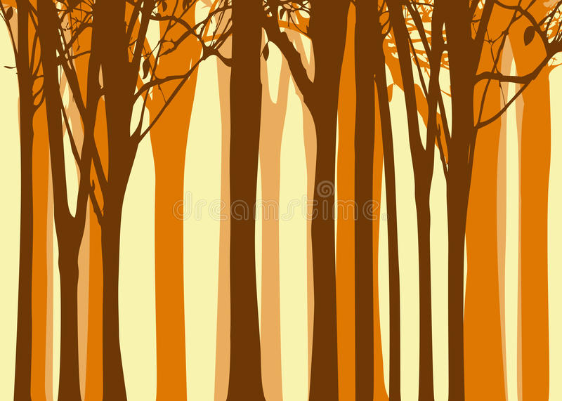 Abstract autumn tree background royalty free stock photos