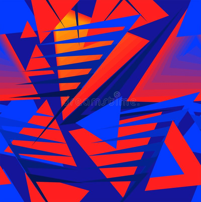 Abstract avant-garde ornament royalty free illustration