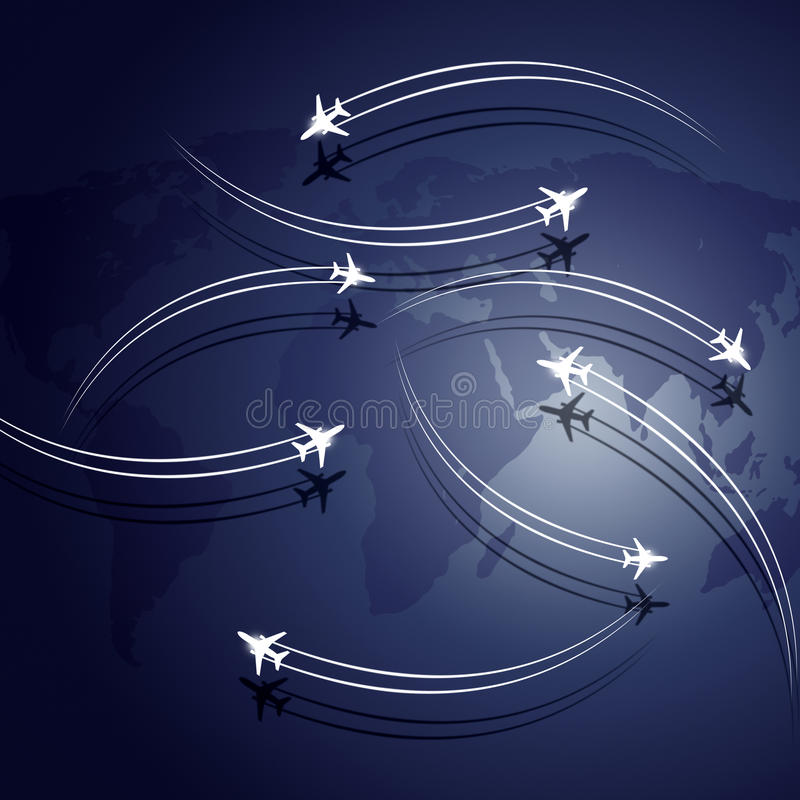 Abstract Aviation Background royalty free illustration