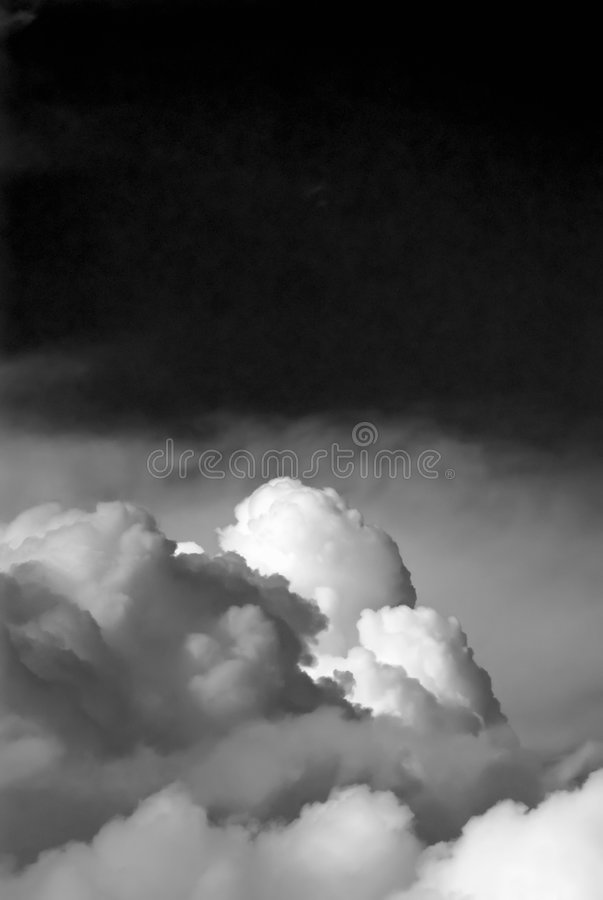 Abstract b/w cloudscape stock images