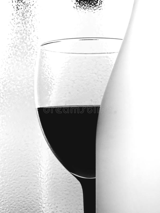 Abstract B&W Wine Glassware Design stock image