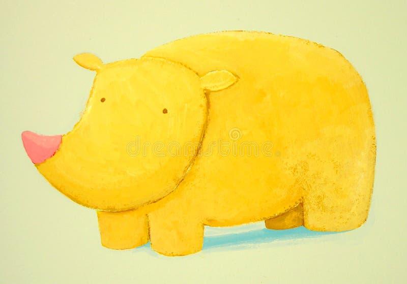 Abstract baby rhino stock photos