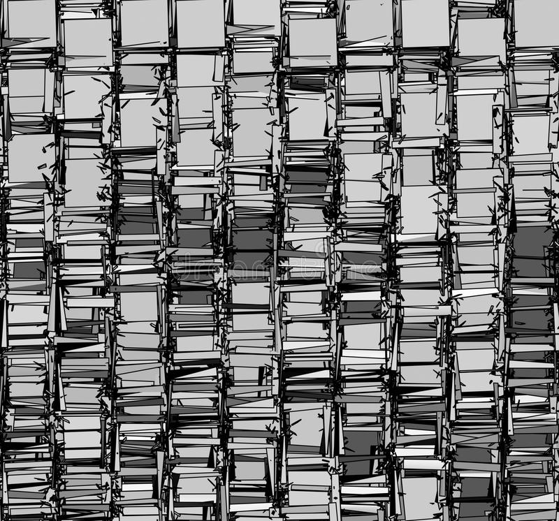 Abstract backdrop pattern in chrome silver gray