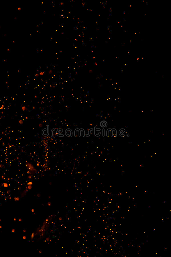Abstract backgoundof fire sparks. royalty free stock photo