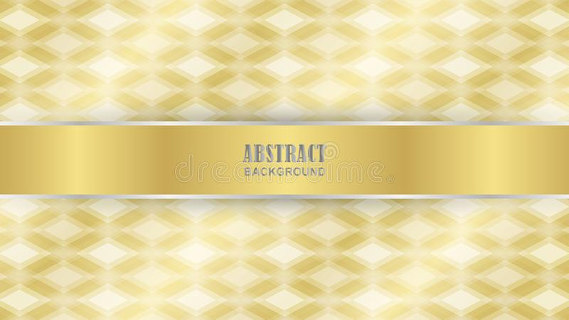 Gold diamond pattern as background stock illustration