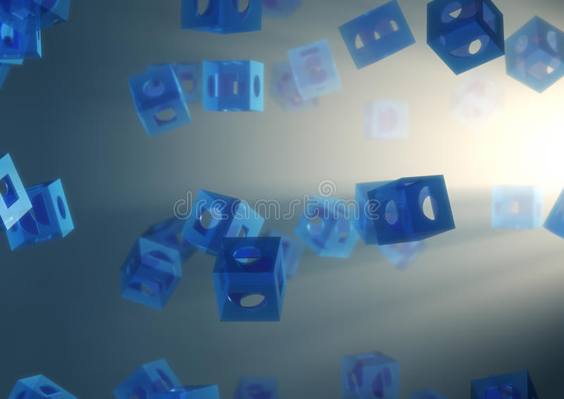 Abstract background. 3d computer generate image of an abstract background with cubic shapes stock illustration