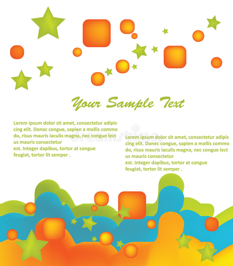Abstract Background. Whit white text,message space stock illustration