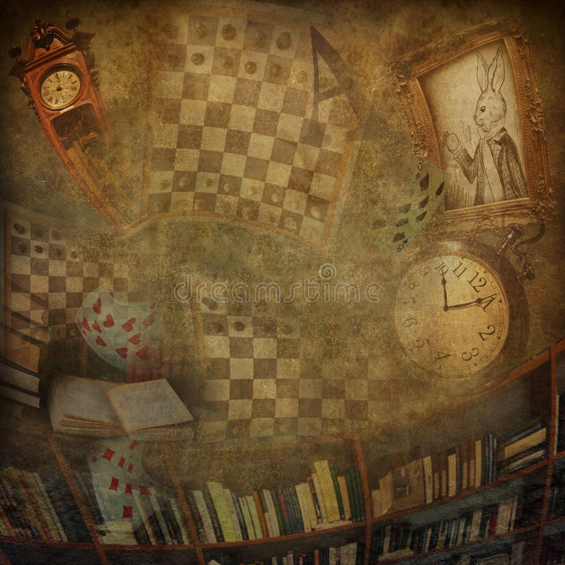 Abstract background. To the novel Alice in Wonderland royalty free stock photo