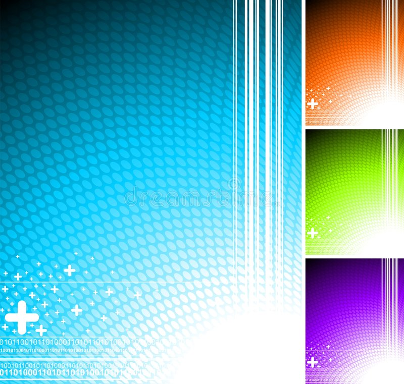 Abstract background. With four color variation royalty free illustration