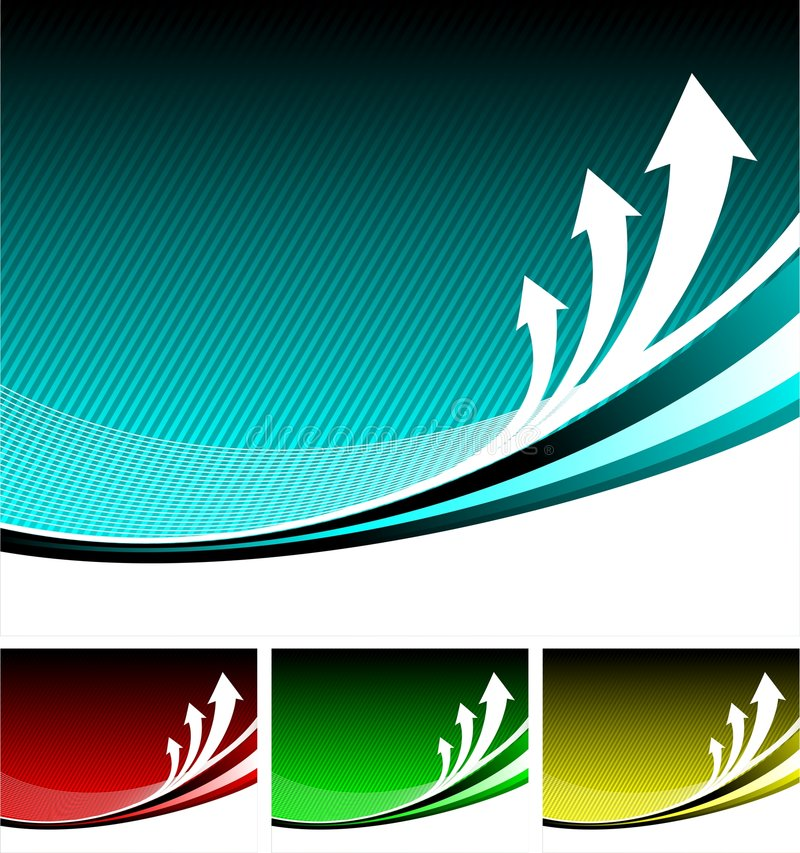 Abstract background. With arrow, four color version vector illustration