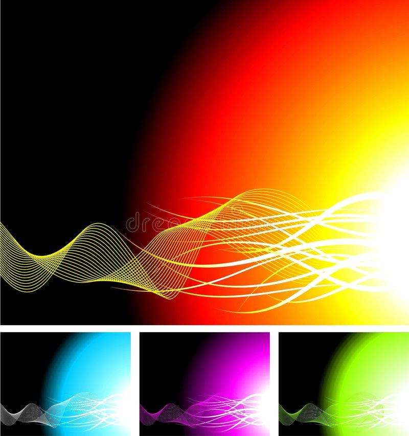 Abstract background. Illustration with four color variation royalty free illustration