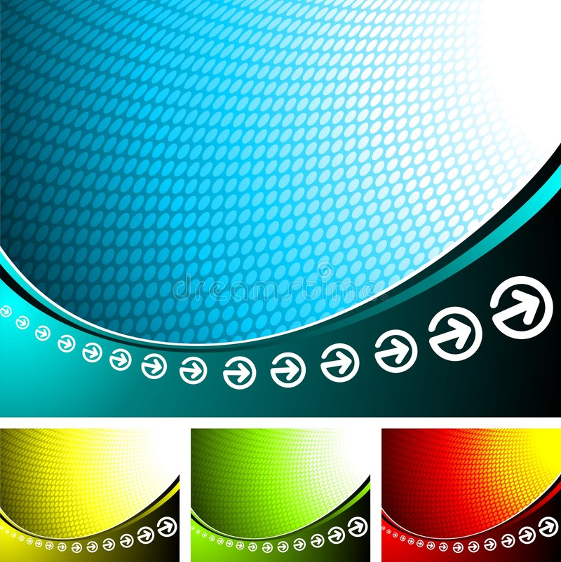 Abstract background. Abstract illustration with four color variation vector illustration