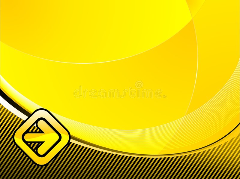 Abstract background. Abstract illustration with arrow on yellow background vector illustration
