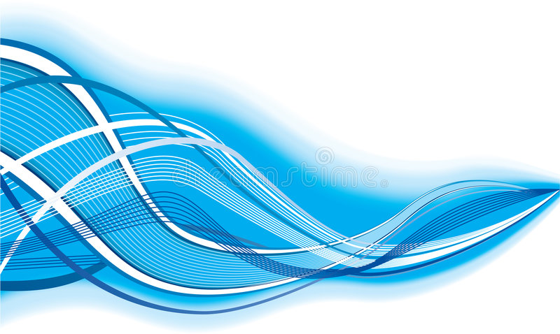 Abstract background. Blue abstract composition with modern design royalty free illustration