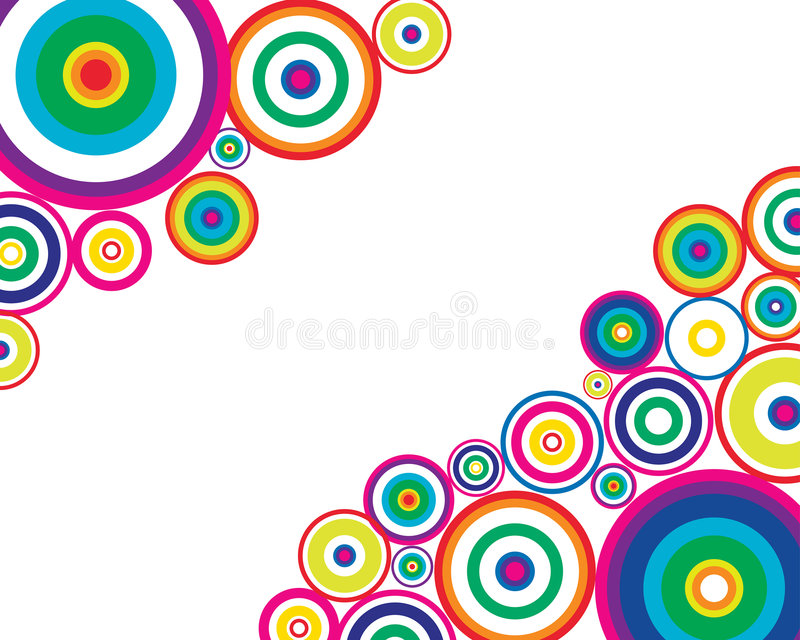 Abstract background. Circle stroke elements vector background in different colors royalty free illustration