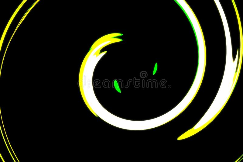 Abstract background, abstract colorful white,Yellow, Green, blackbackground. royalty free stock images
