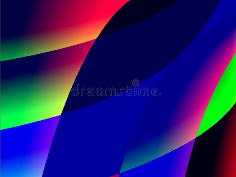Abstract background advertising gradient black, blue, red, green, multicolored decorative pattern 向量例证
