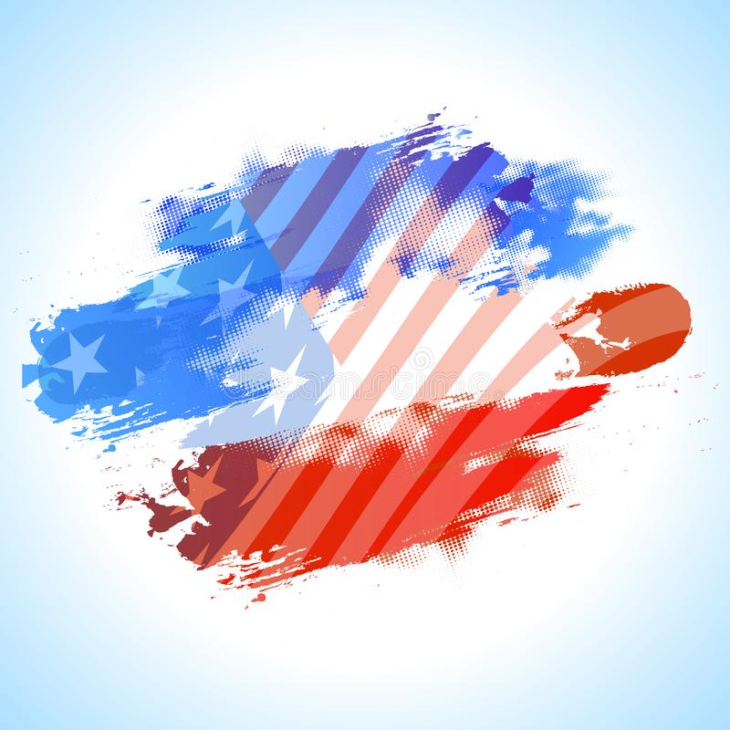 Abstract background in American Flag colors. stock illustration