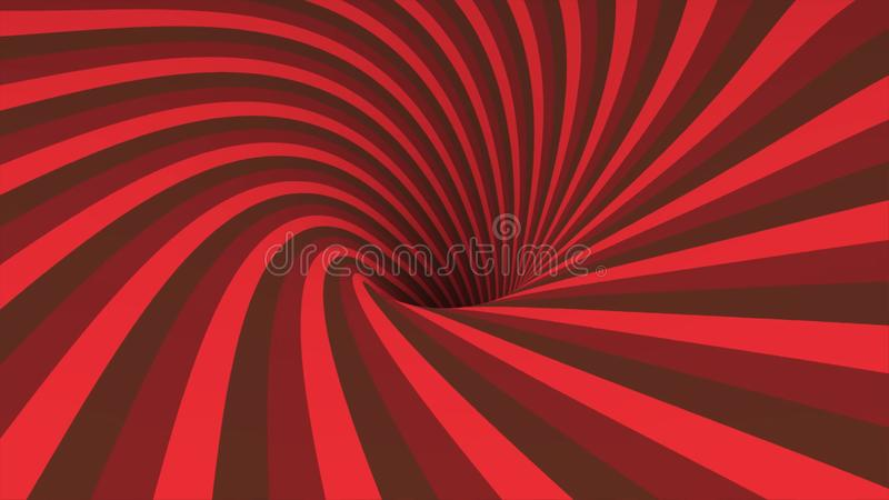Abstract background with animation spinning helix. Abstract swirling colorful funnel. Rotating rainbow swirl. royalty free illustration
