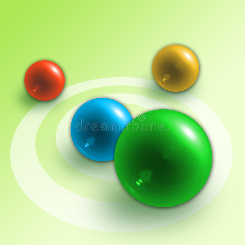 Abstract background from balls. Illustration of abstract background from balls and structure vector illustration