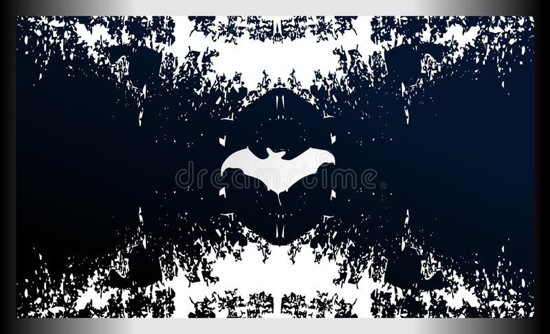 Abstract Background with Bat Silhouette royalty free illustration