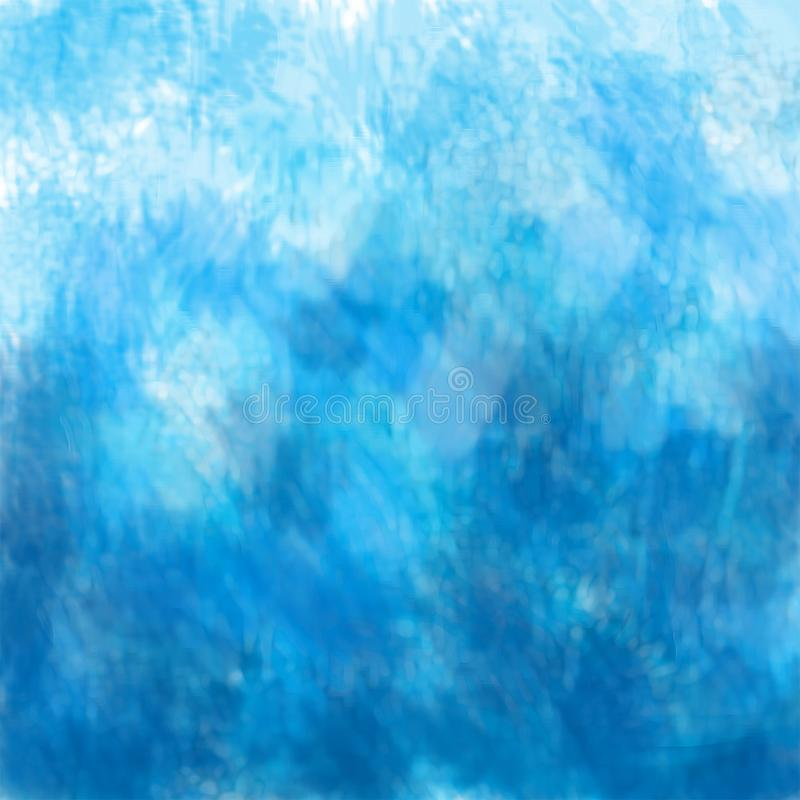 Abstract background, a beautiful transition from Persian blue to light blue, an imitation of oil paint on canvas. Great as a background for a poster, web pages stock illustration