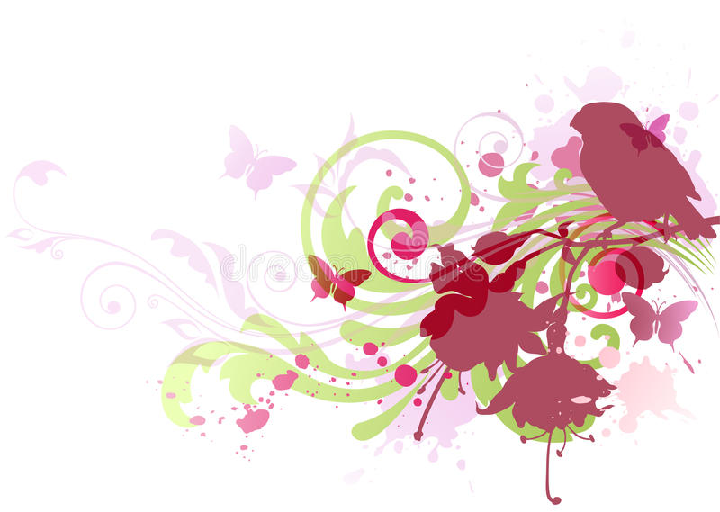 Download Abstract  Background With Bird Stock Vector - Image: 19047669