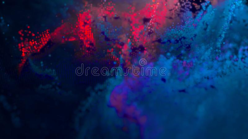 Abstract background 8-bit. 8 bit galaxy in outer space stock illustration